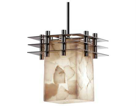 Justice Design Group Alabaster Rocks Metropolis Small Resin Mini-Pendant