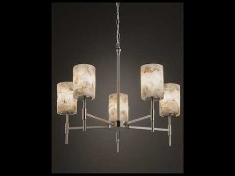 Justice Design Group Alabaster Rocks Union 5-Light Chandelier