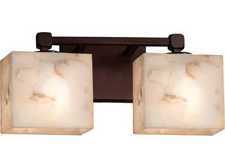Justice Design Group Alabaster Rocks Tetra 2-Light Bath Bar