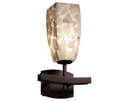 Justice Design Group Alabaster Rocks Resin Archway Wall Sconce