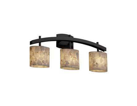 Justice Design Group Alabaster Rocks Archway Resin Three-Light Bath Bar Light
