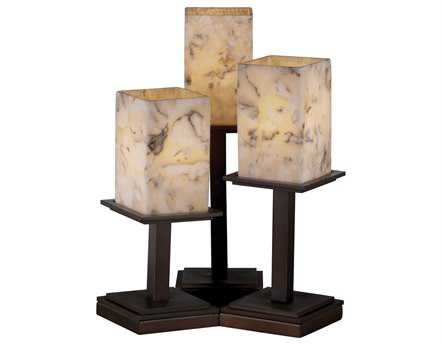 Justice Design Group Alabaster Rocks Montana Resin Three-Light Table Lamp