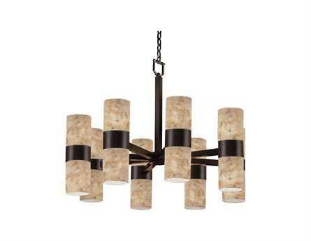 Justice Design Group Alabaster Rocks Dakota Resin 16-Light Chandelier