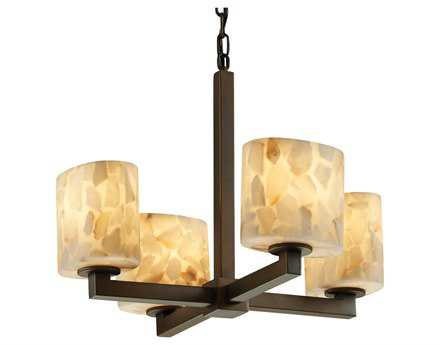 Justice Design Group Alabaster Rocks Modular Resin Four-Light Mini Chandelier