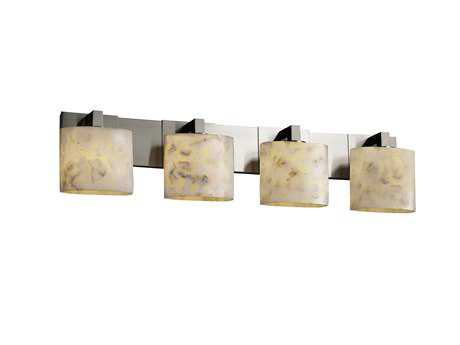 Justice Design Group Alabaster Rocks Modular Resin Four-Light Bath Bar Light