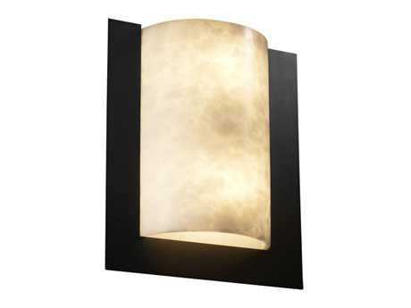 Justice Design Group Clouds Framed Rectangle 3-Sided Resin Two-Light ADA Wall Sconce