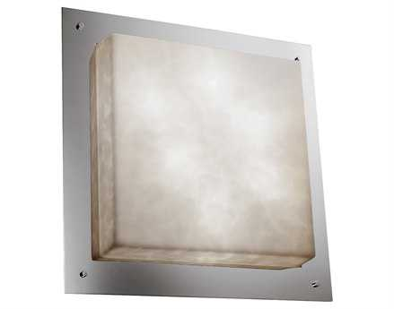 Justice Design Group Clouds Round Framed Resin Six-Light ADA Wall Sconce - Flush Mount Light