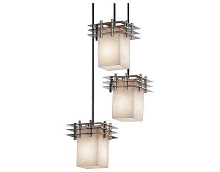Justice Design Group Clouds Metropolis Small Resin Three-Light Cluster Mini-Pendant