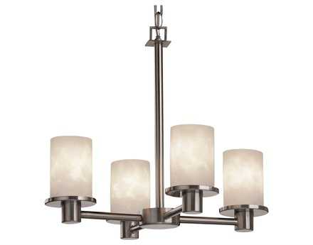 Justice Design Group Clouds Rondo Resin Four-Light Mini Chandelier