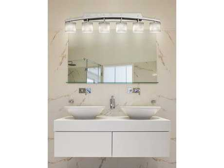 Justice Design Group Clouds Archway Resin Six-Light Bath Bar Light