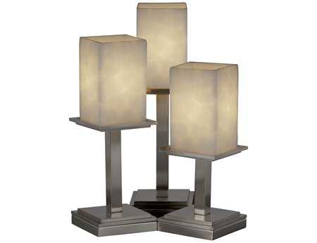 Justice Design Group Clouds Montana Resin Three-Light Table Lamp