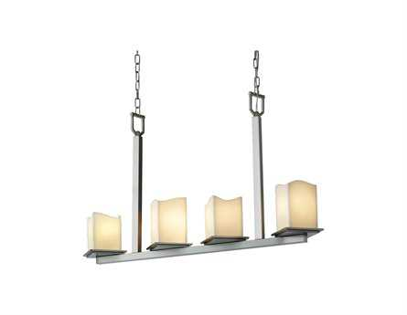 Justice Design Group Candlearia Montana Faux Candle Resin Four-Light Bar Mini Chandelier