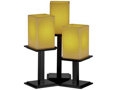 Justice Design Group Candlearia Montana Faux Candle Resin Three-Light Table Lamp