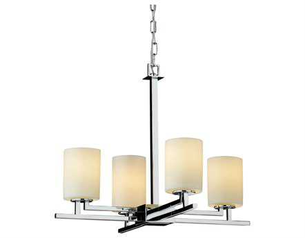 Justice Design Group Candlearia Aero Faux Candle Resin Four-Light Mini Chandelier