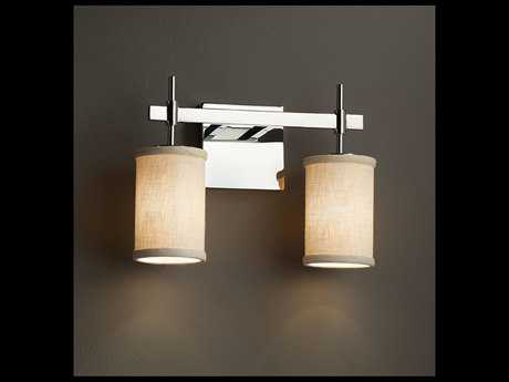 Justice Design Group Textile Union 2-Light Bath Bar