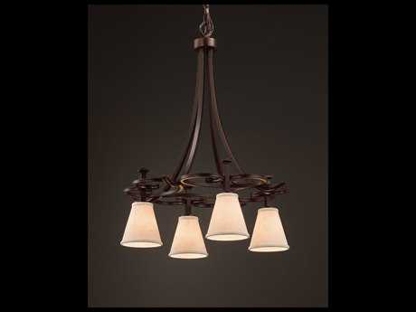 Justice Design Group Textile Arcadia 4-Downlight Chandelier