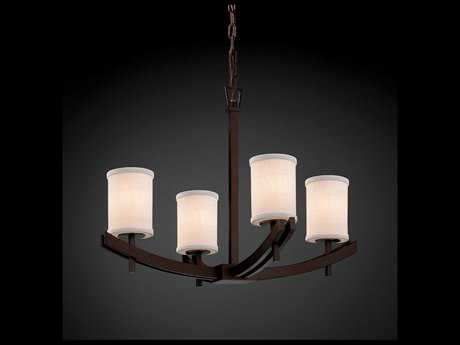 Justice Design Group Textile Archway 4-Light Chandelier