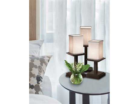 Justice Design Group Textile Montana 3-Light Table Lamp