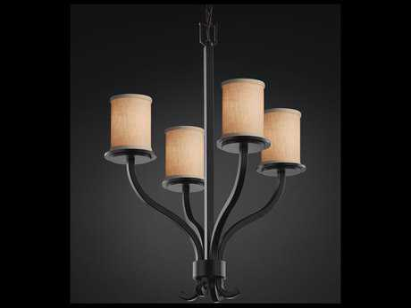 Justice Design Group Textile Sonoma 4-Light Chandelier