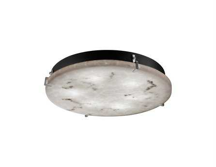 Justice Design Group Lumenaria Clips Round Faux Alabaster Resin Six-Light ADA Wall Sconce - Flush Mount Light