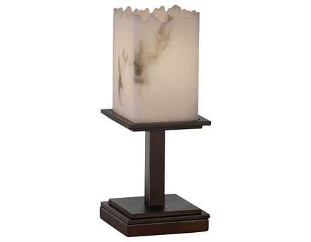 Justice Design Group Lumenaria Montana Short Faux Alabaster Resin Table Lamp