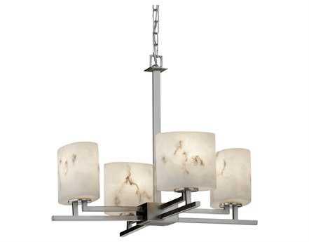 Justice Design Group Lumenaria Aero Faux Alabaster Resin Four-Light Mini Chandelier