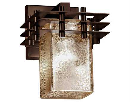 Justice Design Group Fusion Metropolis Artisan Glass Wall Sconce