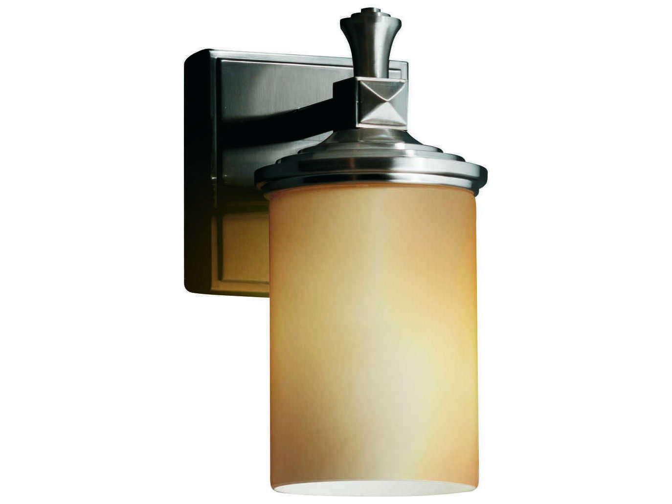 Justice Design Group Fusion Deco Artisan Glass Wall Sconce JDFSN8531