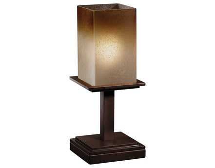 Justice Design Group Fusion Montana Short Artisan Glass Table Lamp