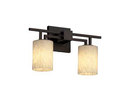 Justice Design Group Fusion Aero Artisan Glass Two-Light Bath Bar Light