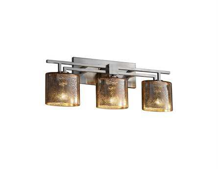 Justice Design Group Fusion Aero Artisan Glass Three-Light Bath Bar Light