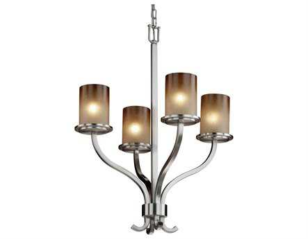 Justice Design Group Fusion Sonoma Artisan Glass Four-Light Chandelier