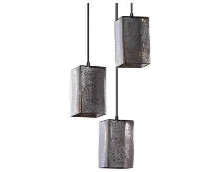 Justice Design Group Fusion Artisan Glass Three-Light Cluster Mini-Pendant