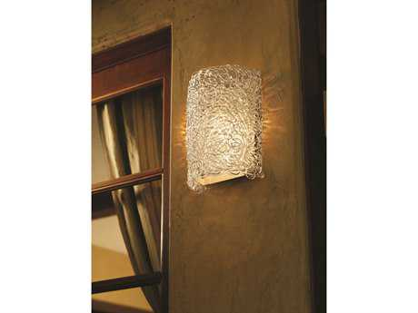 Justice Design Group Veneto Luce Finials Cylinder Venetian Glass Outdoor Wall Sconce - Sheltered Socket