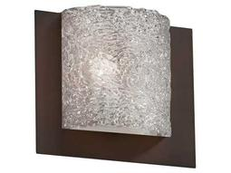 Justice Design Group Veneto Luce Square 3-Sided Venetian Glass Framed ADA Wall Sconce