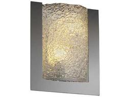 Justice Design Group Veneto Luce Framed Rectangle 3-Sided Venetian Glass Two-Light ADA Wall Sconce