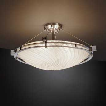 Justice Design Group Veneto Luce Metropolis Round Venetian Glass Six-Light Semi-Flush Mount Light Bowl