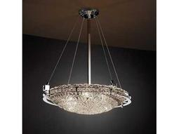 Justice Design Group Veneto Luce Metropolis Round Venetian Glass Six-Light Pendant Bowl