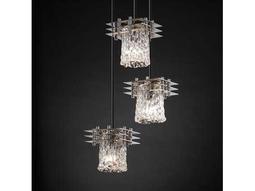 Justice Design Group Veneto Luce Metropolis Venetian Glass Three-Light Cluster Mini-Pendant