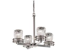 Justice Design Group Veneto Luce Circa 4-Light Chandelier- Uplight