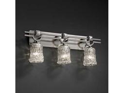 Justice Design Group Veneto Luce Argyle Venetian Glass Three-Light Bath Bar Light
