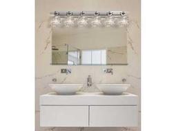 Justice Design Group Veneto Luce Argyle 6-Light Bath Bar