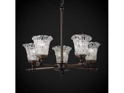 Justice Design Group Veneto Luce Tradition Venetian Glass Five-Light Chandelier