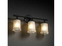 Justice Design Group Veneto Luce Tradition Venetian Glass Three-Light Bath Bar Light