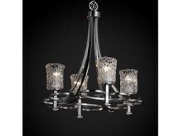 Justice Design Group Veneto Luce Arcadia Venetian Glass Four-Light Chandelier