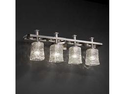 Justice Design Group Veneto Luce Arcadia Venetian Glass Four-Light Bath Bar Light