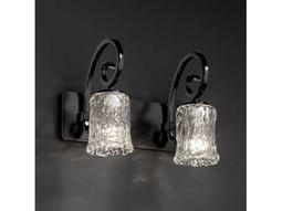 Justice Design Group Veneto Luce Victoria Venetian Glass Two-Light Bath Bar Light