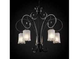 Justice Design Group Veneto Luce Victoria Venetian Glass Five-Light Chandelier