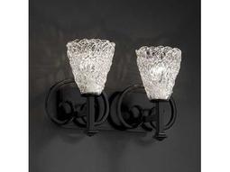 Justice Design Group Veneto Luce Heritage Venetian Glass Two-Light Bath Bar Light
