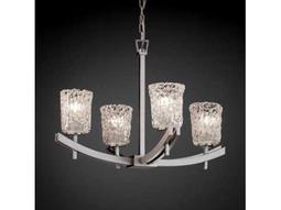 Justice Design Group Veneto Luce Archway Venetian Glass Four-Light Chandelier